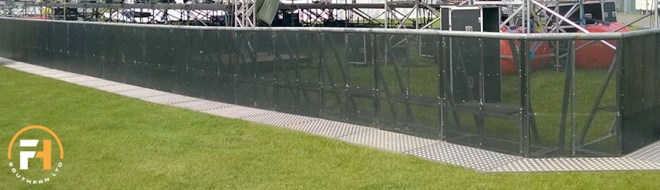 front of stage barrier