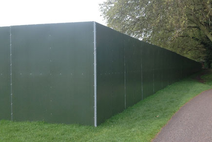 steel shield hoarding